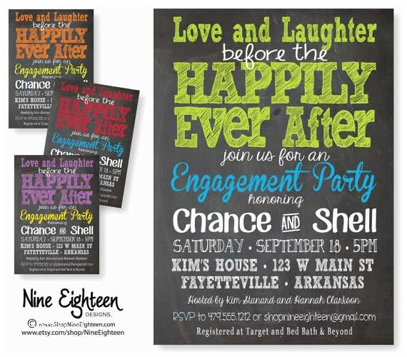Happily Ever after Party Invitations Love Laughter Happily Ever after Engagement Party by