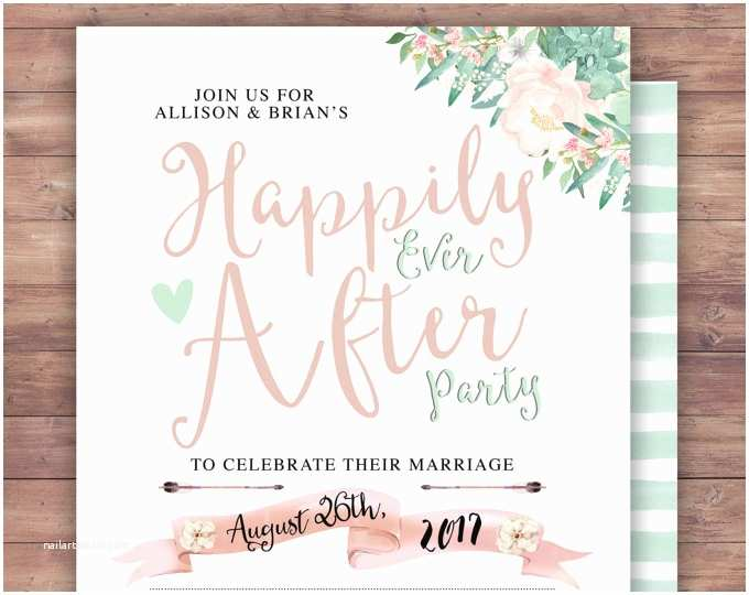 Happily Ever after Party Invitations Lyonsprints