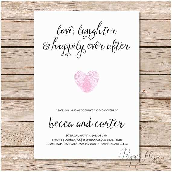 Happily Ever after Party Invitations Printable Engagement Party Invitation Modern Wedding