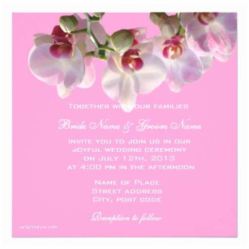 Happily Ever after Wedding Invitations Happily Ever after orchids Wedding Invitations