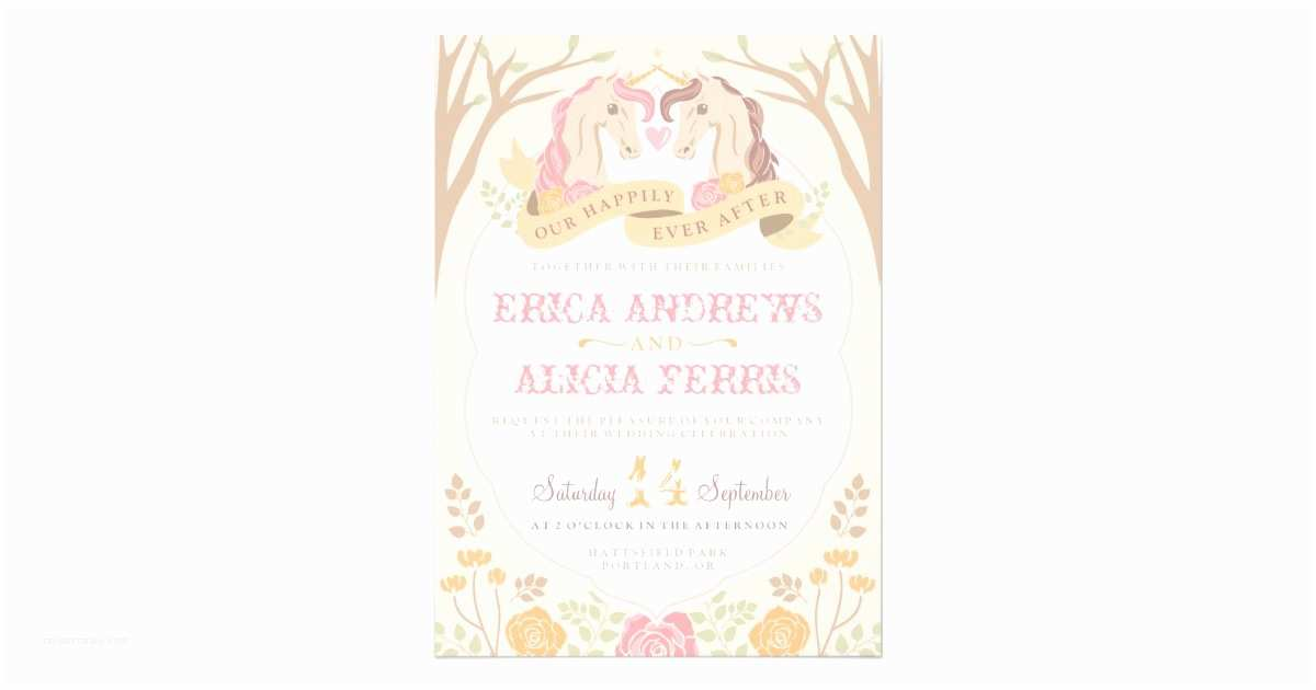 Happily Ever After Wedding S Happily Ever After Unicorn Wedding