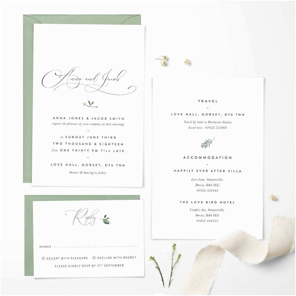 Happily Ever after Wedding Invitations Happily Ever after Wedding Invitation by Confetti Designs