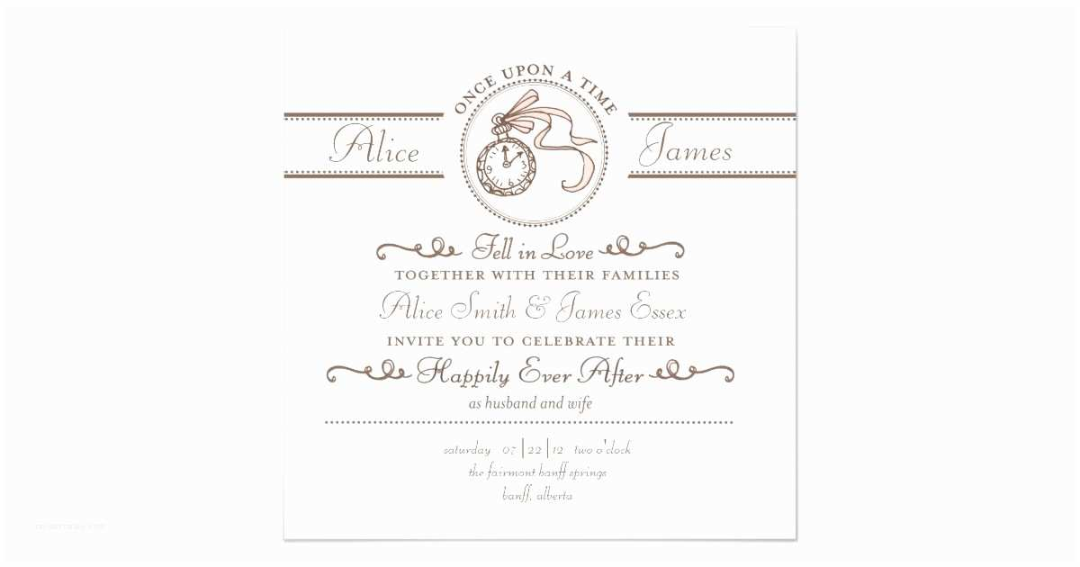 Happily Ever after Wedding Invitations Happily Ever after Wedding Invitation