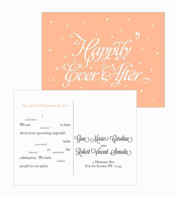 Happily Ever After Wedding Invitations Happily Ever After Wedding Invitations On