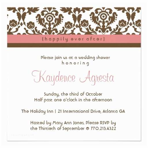 happily ever after wedding shower invitation