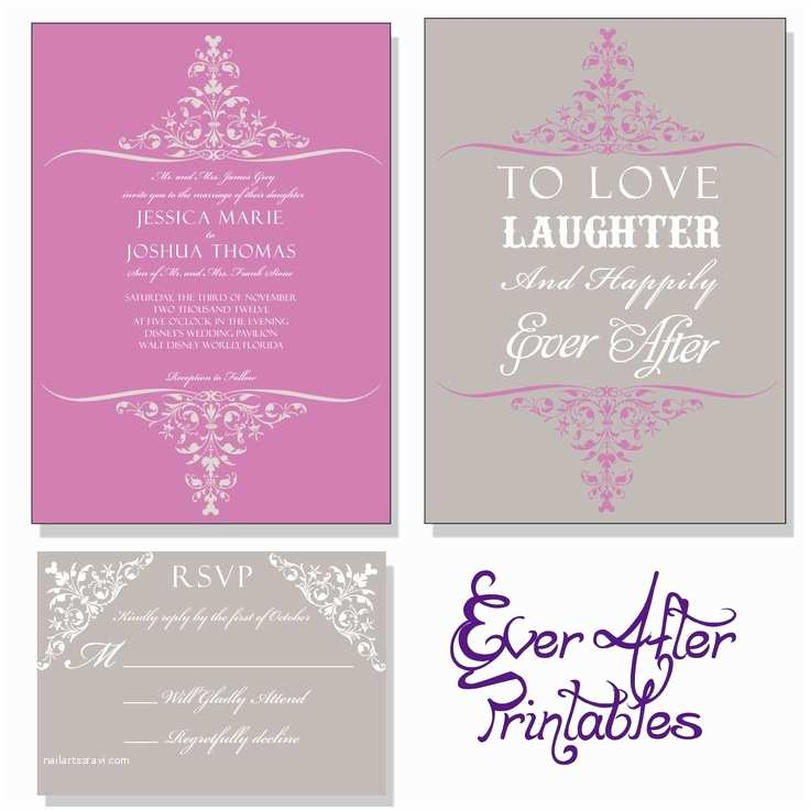 Happily Ever After Wedding Invitations Love Laughter And Happily Ever After Disney