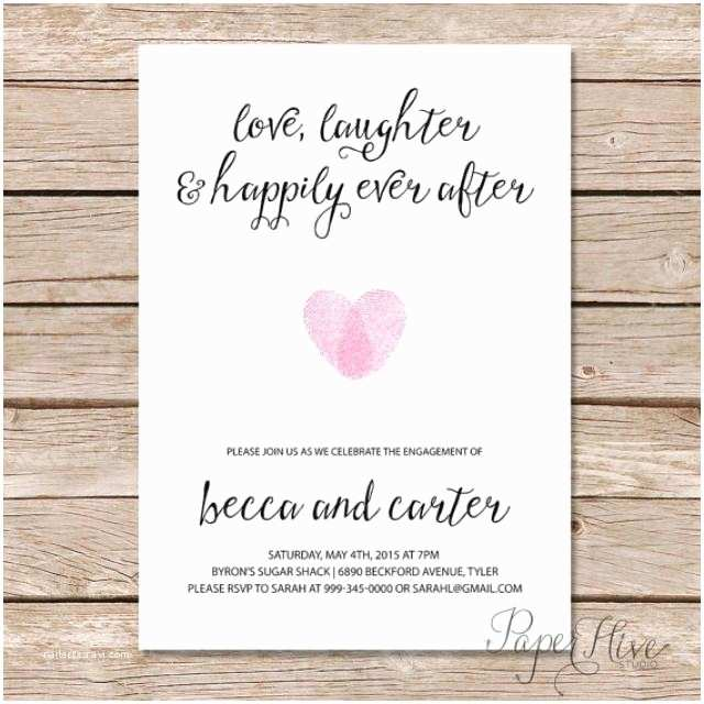 Happily Ever After  Invitations Printable Engagement Party Invitation Modern