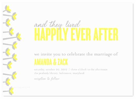 Happily Ever after Wedding Invitations Wedding Invitations Simple Happily Ever after at Minted
