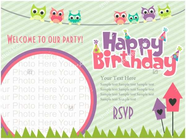 Happy Birthday Invitation 22 Beautiful Kids Invitations Free Psd Eps