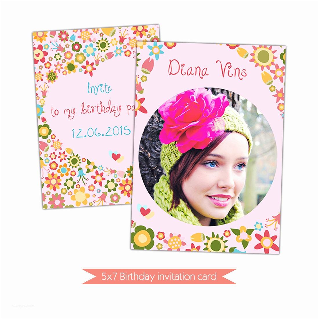 Happy Birthday Invitation 40th Birthday Ideas Happy Birthday Invitation Template Card