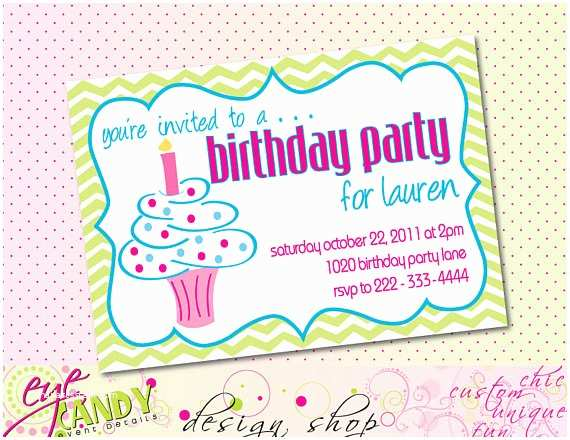Happy Birthday Invitation Items Similar to Chevron Cupcake Happy Birthday Invite