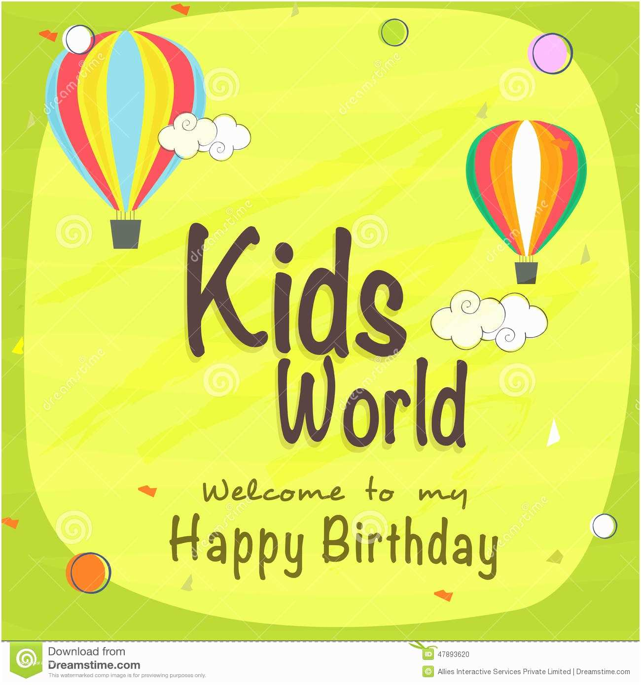 Happy Birthday Invitation Kids Birthday Celebration Invitation Card Stock