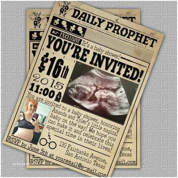 Harry Potter Baby Shower Invitations Custom Harry Potter Inspired Baby Shower Invitation the