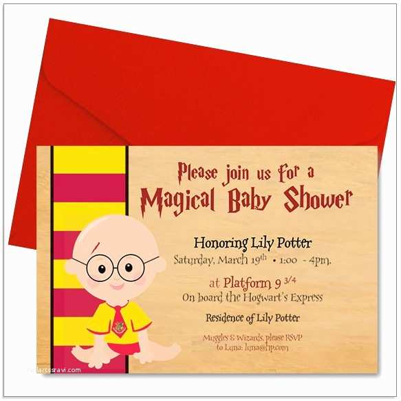 Harry Potter Baby Shower Invitations Free Harry Potter Baby Shower Invitation Template Download