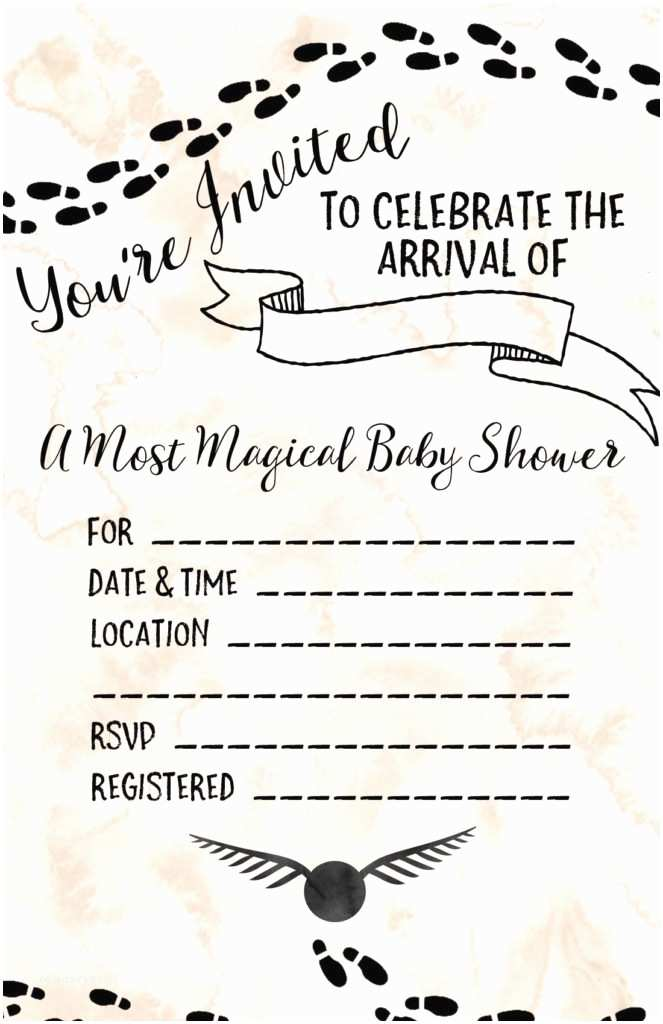 Harry Potter Baby Shower Invitations Harry Potter Baby Shower Ideas & Free Printables Our