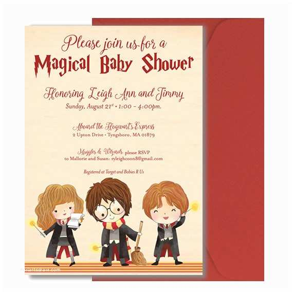 Harry Potter Baby Shower Invitations Harry Potter Baby Shower Invitation Harry by Doodleboxdesigns