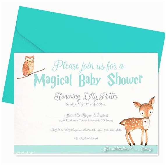 Harry Potter Baby Shower Invitations Harry Potter Baby Shower Invitation Harry Potter Shower