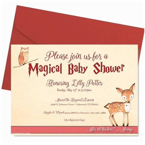 Harry Potter Baby Shower Invitations Harry Potter Baby Shower Invitation Harry Potter Shower