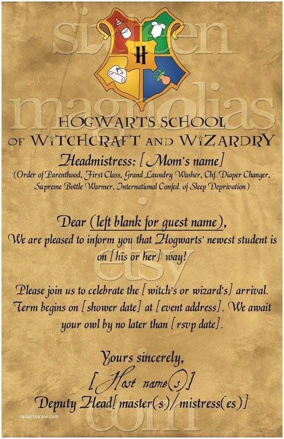Harry Potter Baby Shower Invitations Harry Potter Baby Shower Invitation Kasandra Riehle