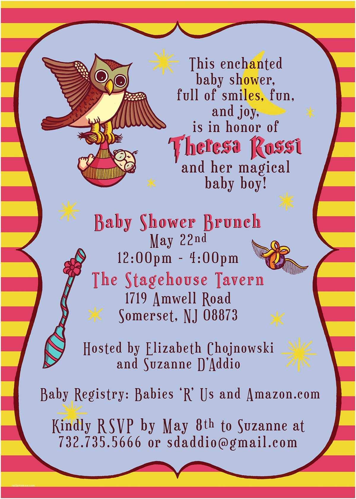 Harry Potter Baby Shower Invitations Harry Potter Baby Shower Invitation On Behance