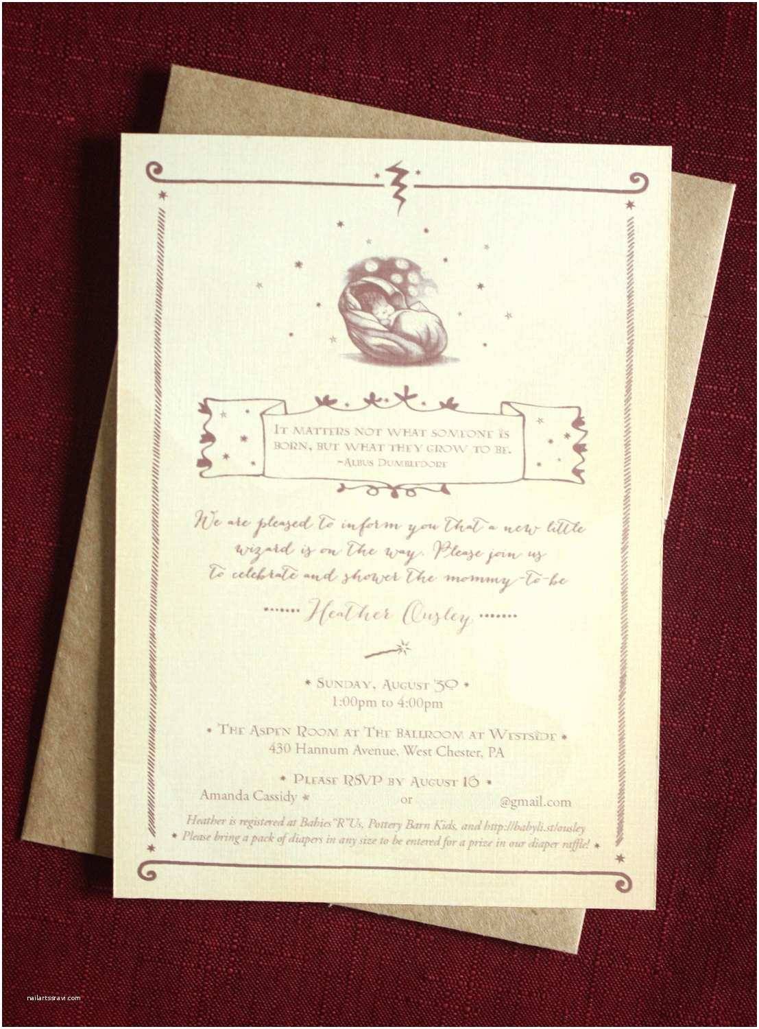 Harry Potter Baby Shower Invitations Kitchen & Dining