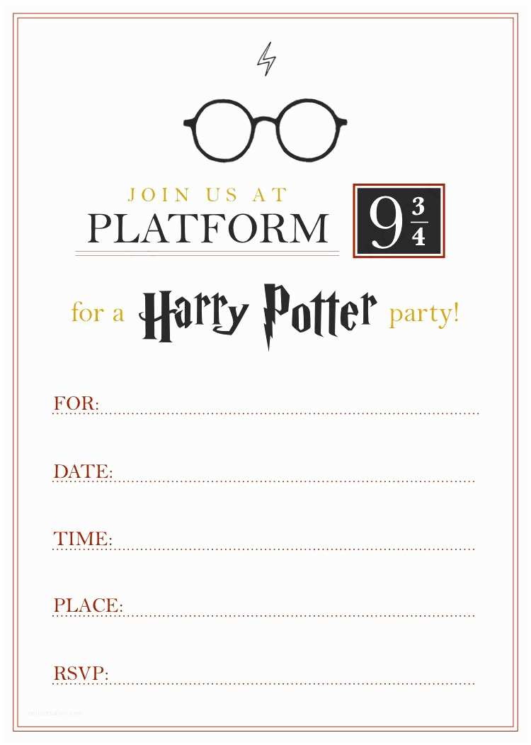 Harry Potter Birthday Invitations Printable Harry Potter Invitation Pdf