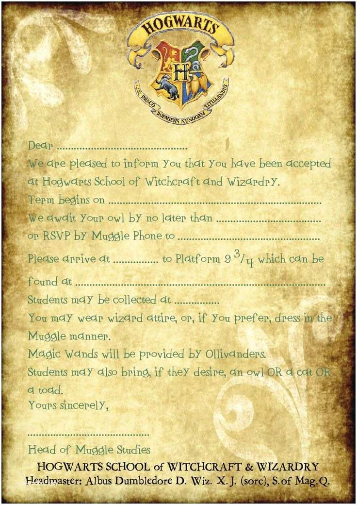 Harry Potter Birthday Party Invitations 25 Best Ideas About Harry Potter Invitations On Pinterest