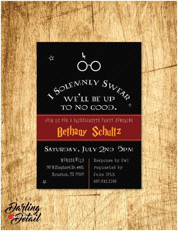 Harry Potter Birthday Party Invitations 30 Best Harry Potter Bachelorette Party Ideas