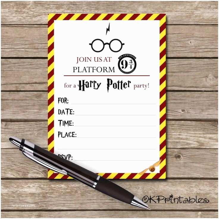 Harry Potter Birthday Party Invitations Best 25 Harry Potter Invitations Ideas On Pinterest