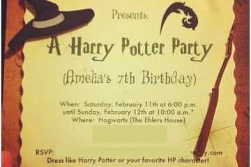 photo regarding Harry Potter Invitations Printable named Harry Potter Birthday Get together Invites No cost Printable Harry