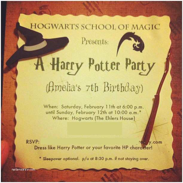 Harry Potter Birthday Party Invitations Free Printable Harry