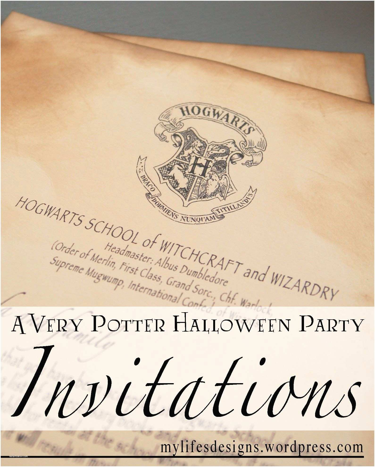 Harry Potter Birthday Party Invitations Free S to Create Your Own Harry Potter Party