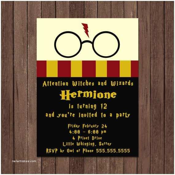 Harry Potter Birthday Party Invitations Harry Potter Birthday Invitation Gryffindor Digital File