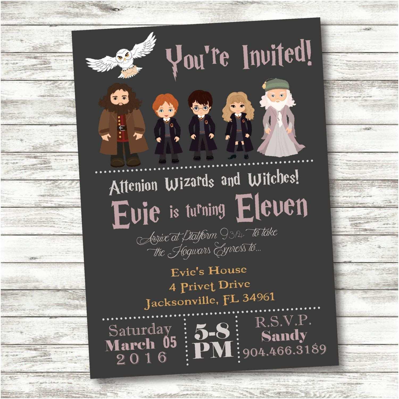 Harry Potter Birthday Party Invitations Harry Potter Birthday Invitation Harry Potter Party