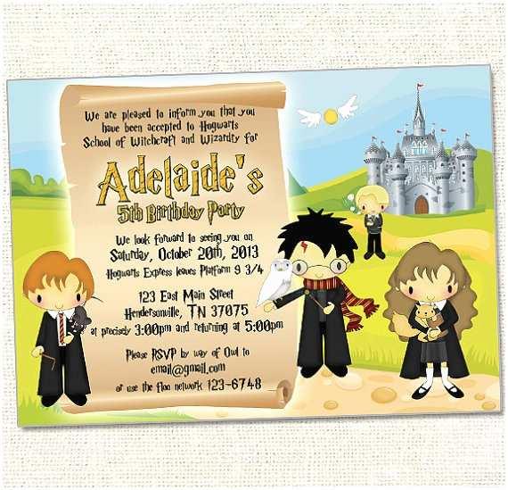 Harry Potter Birthday Party Invitations Harry Potter Birthday Invitations Ideas – Bagvania Free