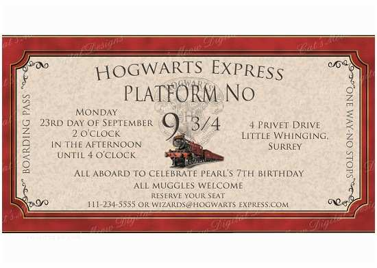 Harry Potter Birthday Party Invitations Harry Potter Birthday Invitations Ideas – Bagvania Free