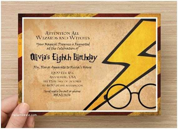 Harry Potter Birthday Party Invitations Harry Potter Invitation Magical Party Digital File by