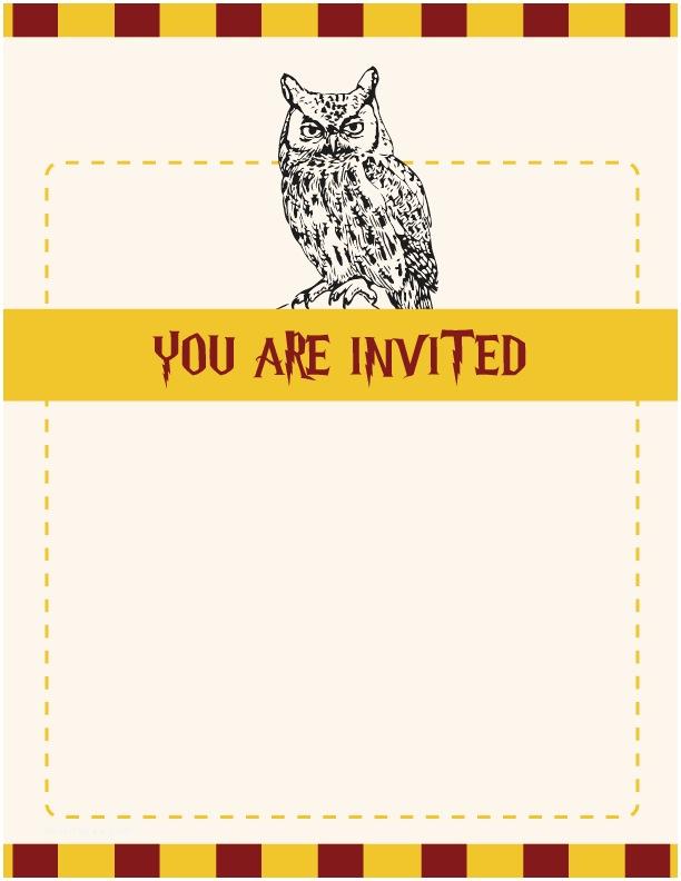 Harry Potter Birthday Party Invitations Harry Potter Party Invitations
