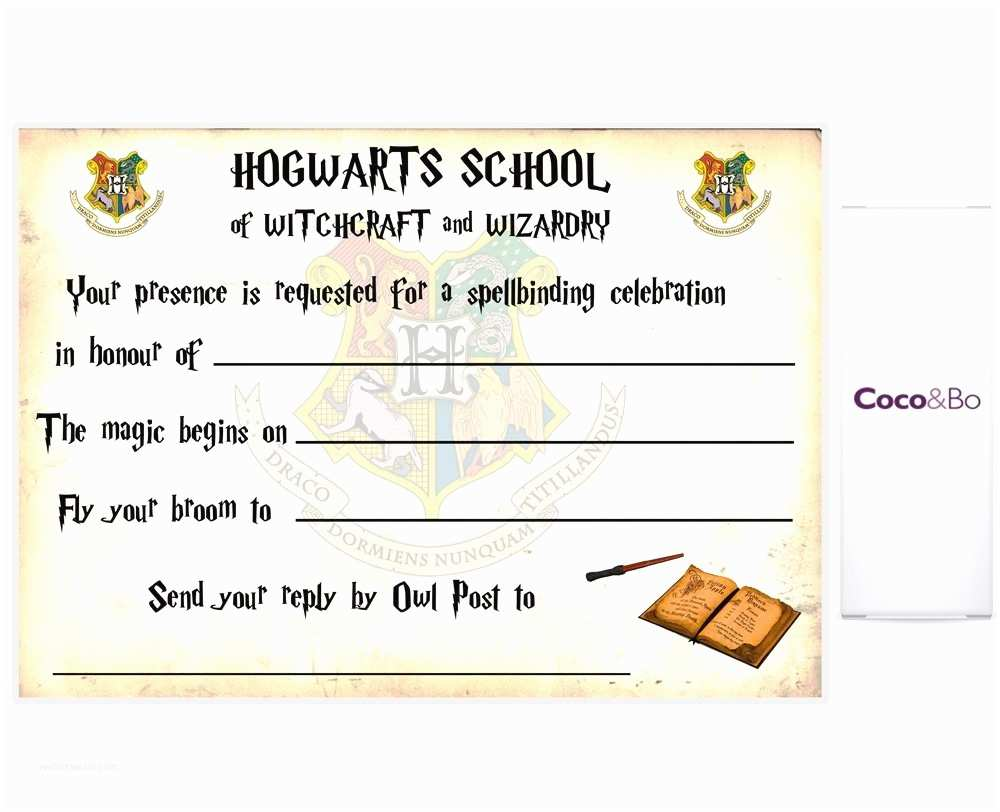 Harry Potter Birthday Party Invitations Ticket Invitation Template Bagvania Free