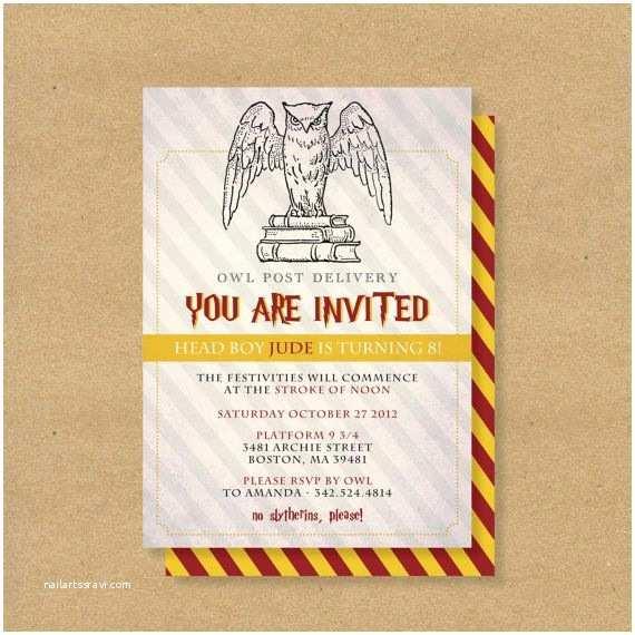 Harry Potter Birthday Party Invitations Printable Birthday Invitation Harry Potter Wizard theme