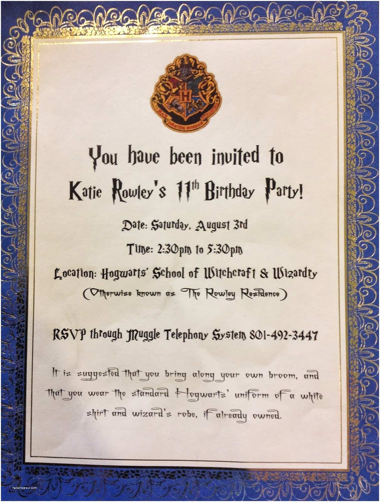 Harry Potter Birthday Party Invitations Puddle Wonderful Learning Harry Potter Birthday Party