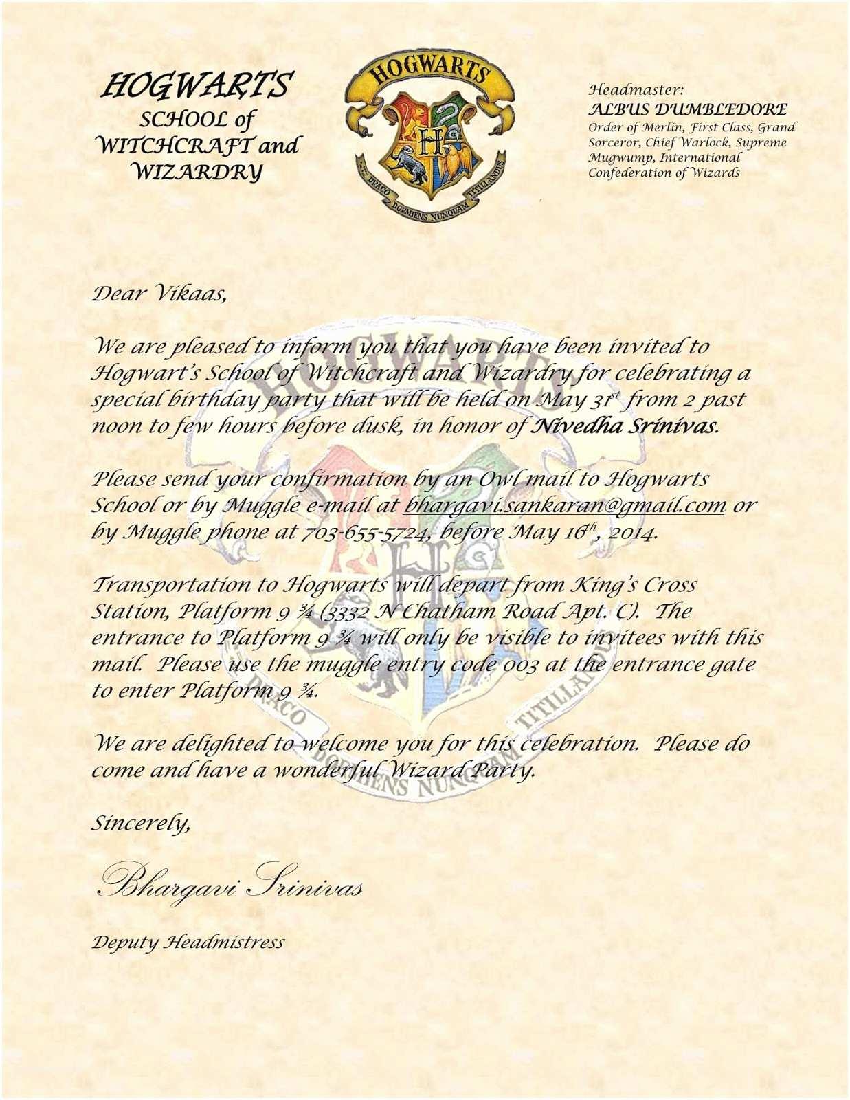 Harry Potter Birthday Party Invitations Sbnv Our World Harry Potter Birthday Party