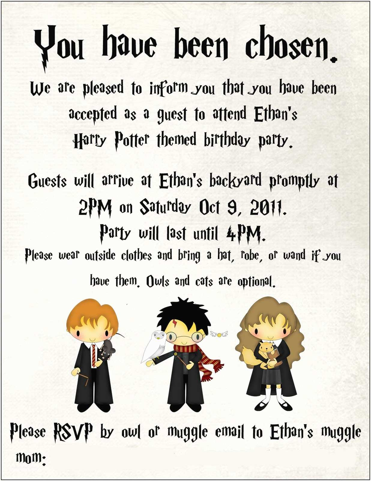 Harry Potter Birthday Party Invitations toad S Treasures Lifestyle Family Blog by Emily ashby