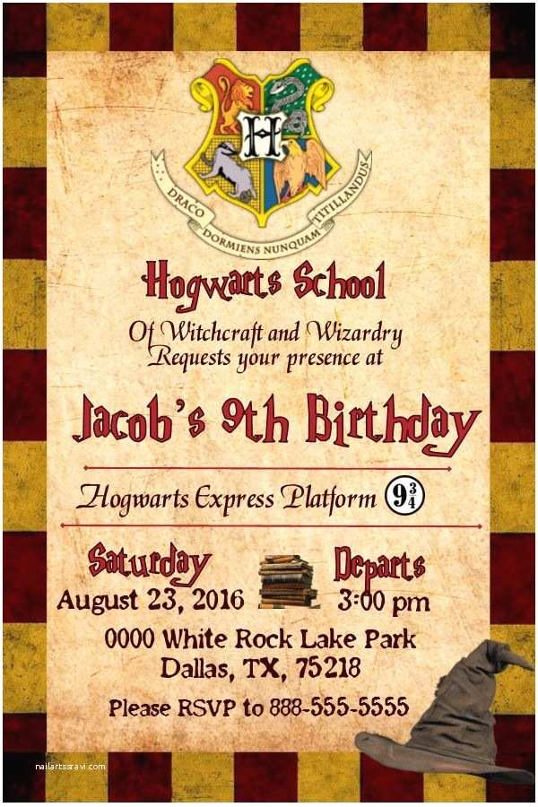 Harry Potter Party Invitations Best 25 Ideas On Pinterest