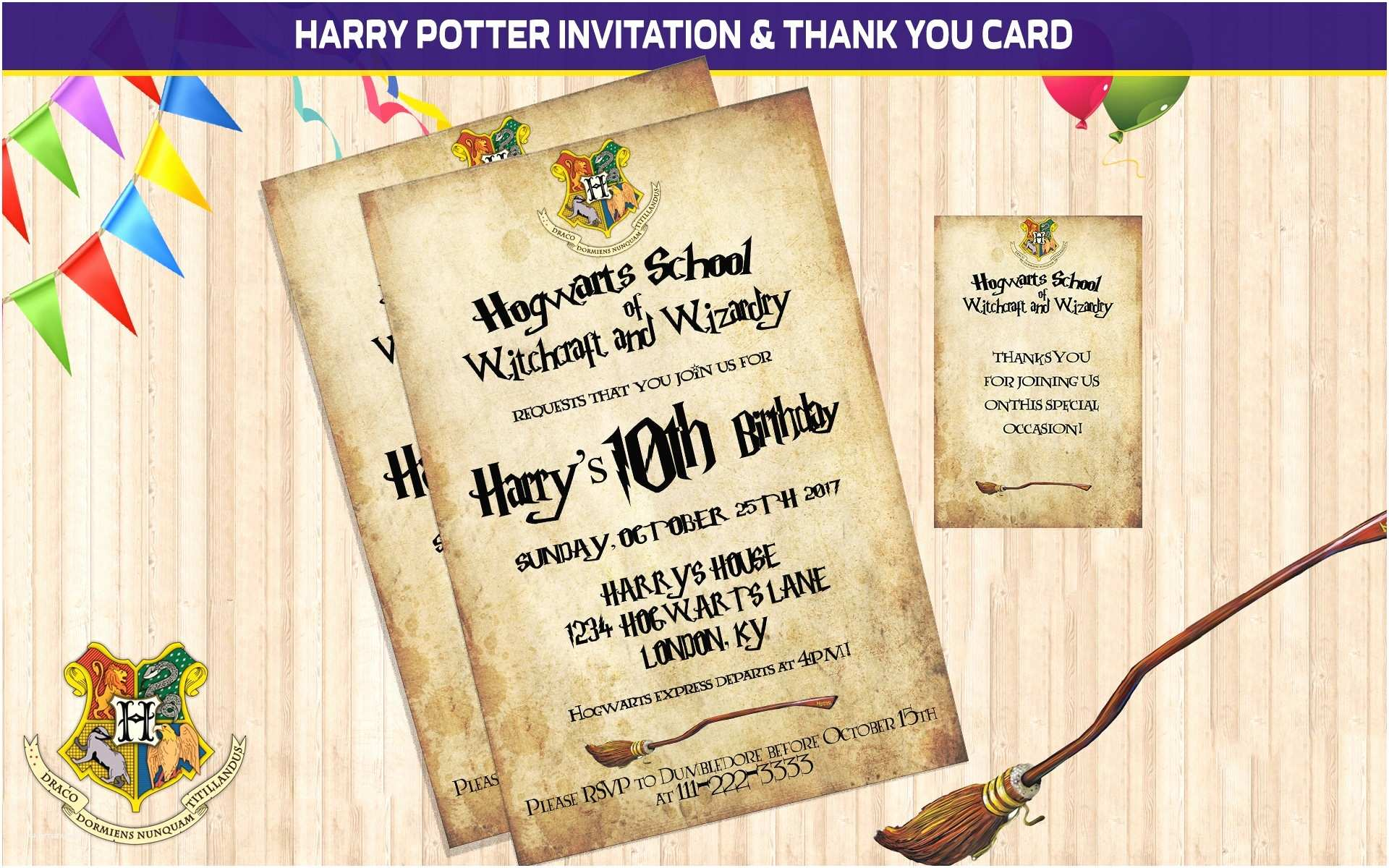 Harry Potter Party Invitations Free Printable Harry Potter Party Invitations