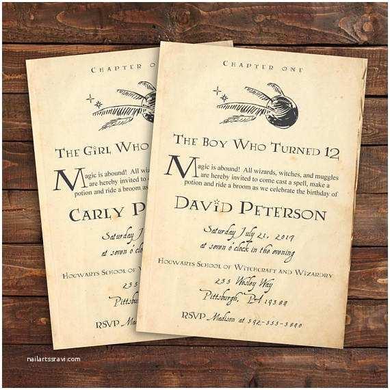 Harry Potter Party Invitations Harry Potter Birthday Invitation Harry Potter Invitation