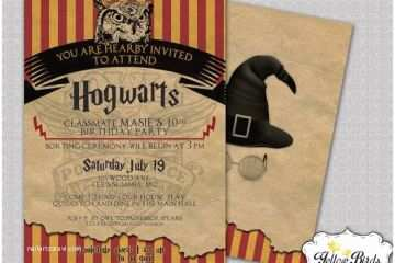 Harry Potter Party Invitations Birthday Invite