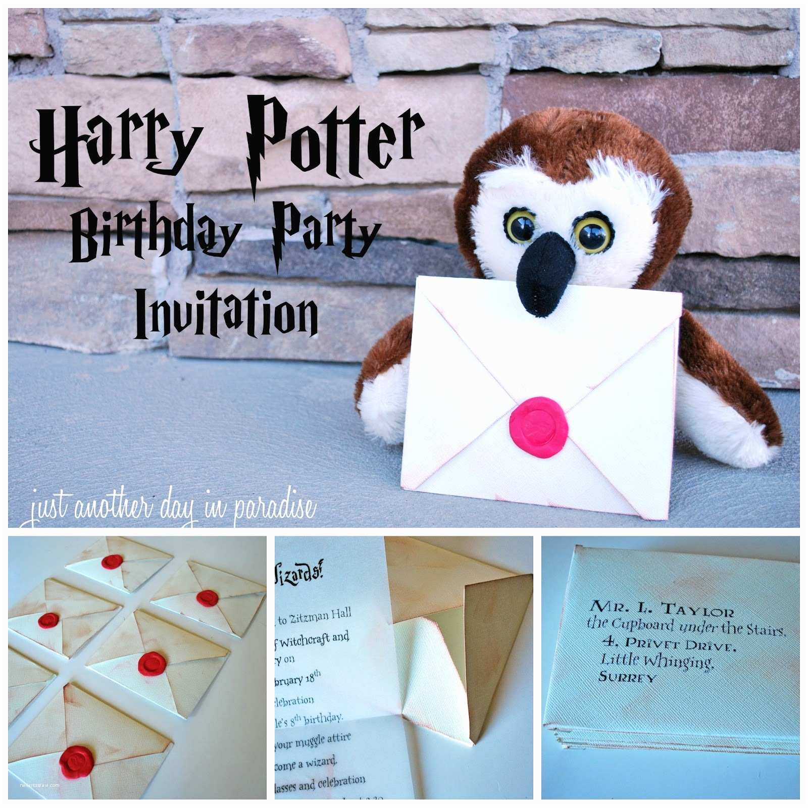 Harry Potter Party Invitations Harry Potter Birthday Invites by Just Another Day In