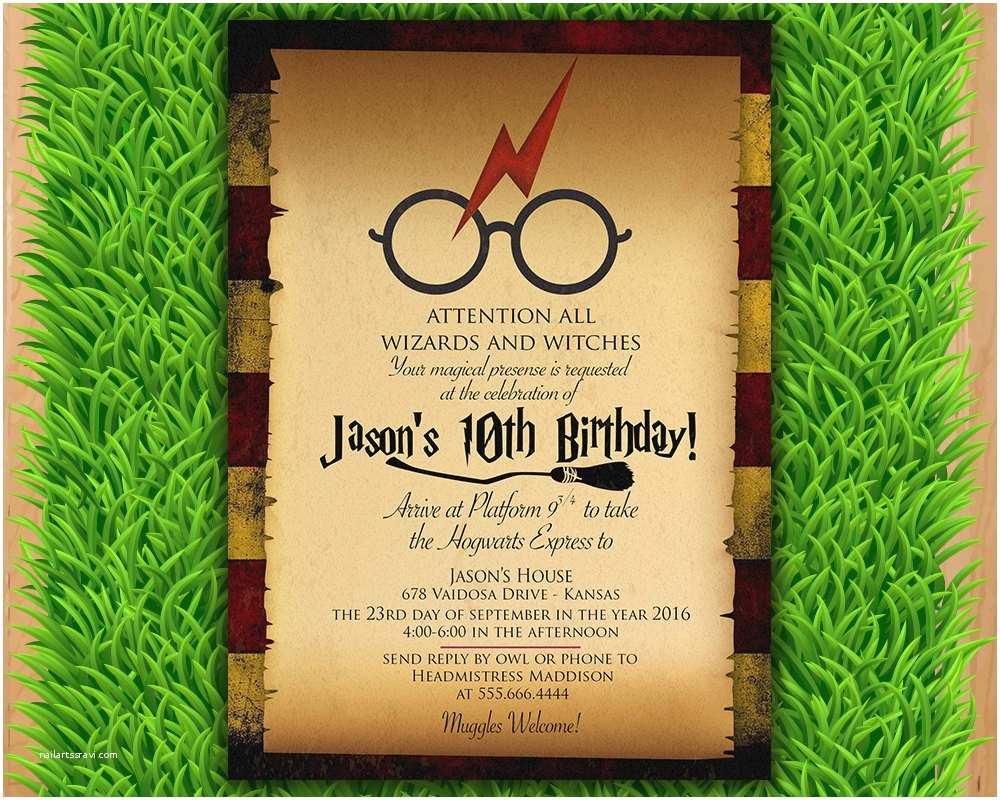 Harry Potter Party Invitations Harry Potter Invitation Magical Birthday Invitation Party