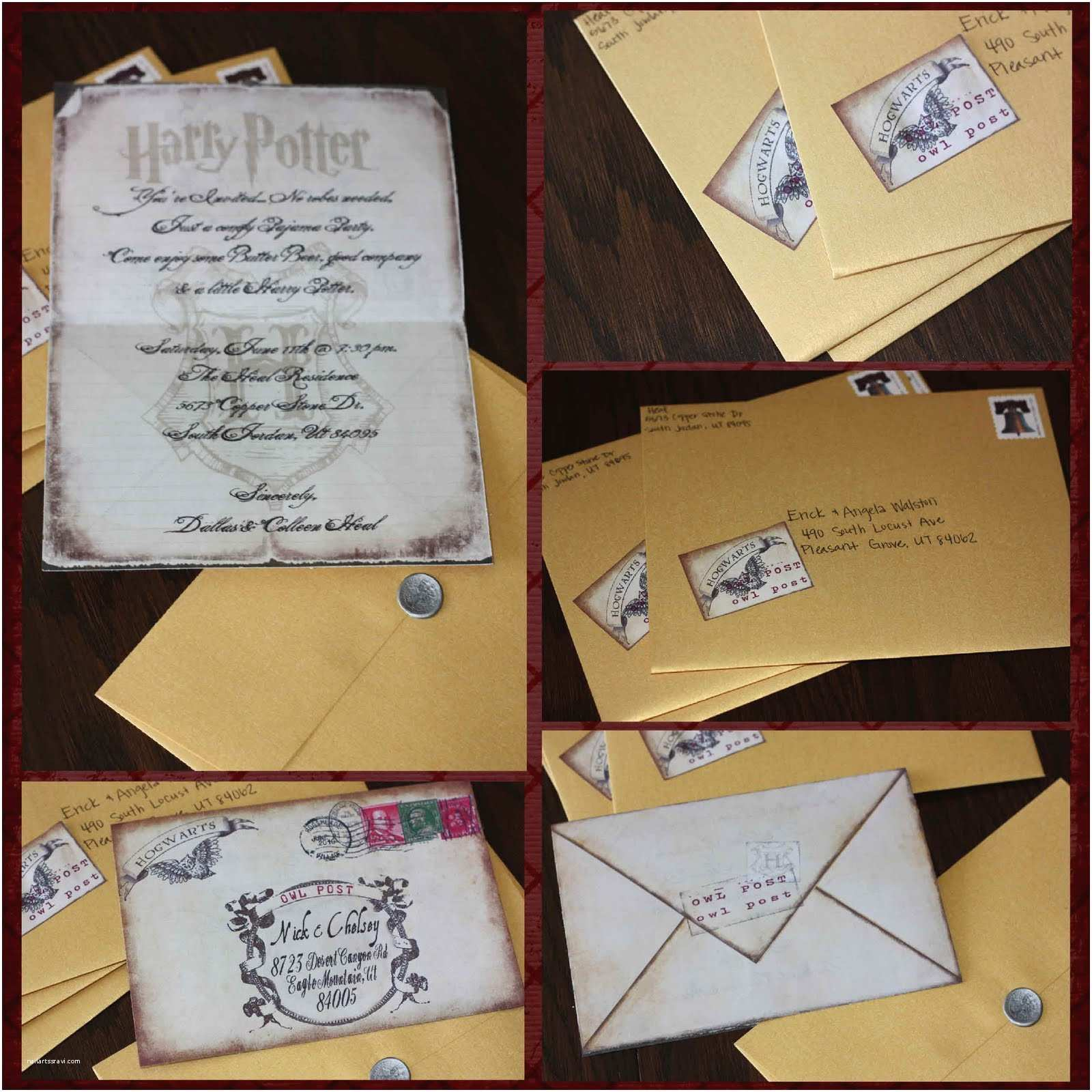 Harry Potter Party Invitations Just Sweet and Simple Harry Potter Invites